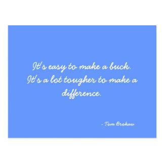 Cartão que cita Tom Brokaw