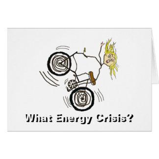 Cartão Que crise de energia? Monte uma bicicleta!