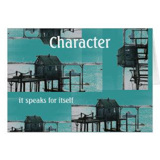 Cartão ~ que do caráter fala para se