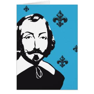"""Cartão Quebeque Samuel Champlain 1608 """"viver conjunto """""""