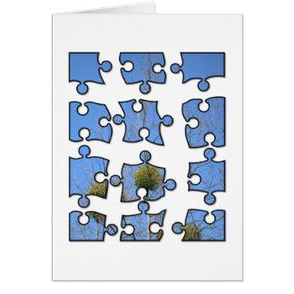 Cartão quebra-cabeça de serra de vaivém 4x3