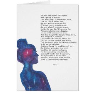 Cartão quebrado da luz das estrelas