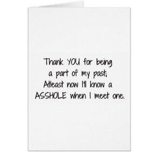 Cartão Quebre acima o obrigado você