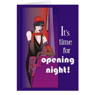 Cartão Quebre um pé na noite da inauguração, Flapper