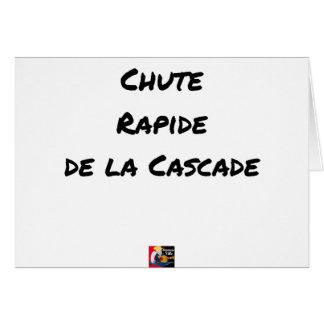 Cartão QUEDA RÁPIDA da CASCATA - Jogos de palavras