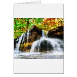 Cartão Quedas da cascata