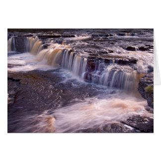 Cartão Quedas de Aysgarth, os Dales de Yorkshire