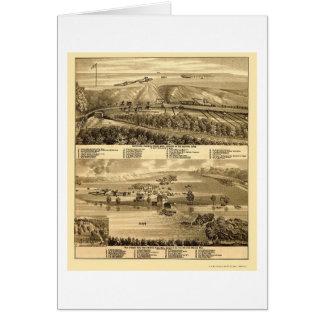 Cartão Quedas do granito, mapa panorâmico do manganês -