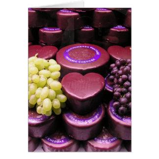 Cartão Queijo e uvas