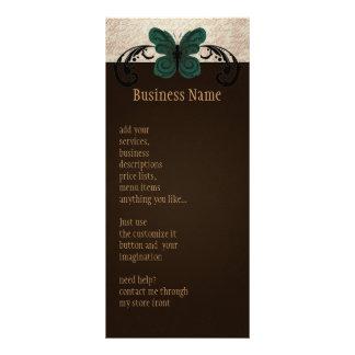 Cartão queimado da cremalheira da borboleta 10.16 x 22.86cm panfleto