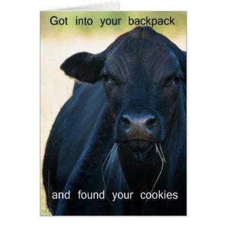 Cartão Queira biscoitos do s'more