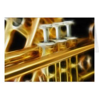 Cartão quente da trombeta