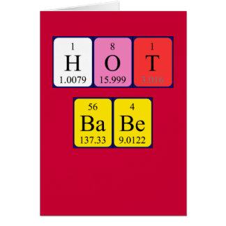 Cartão quente dos namorados da mesa periódica do