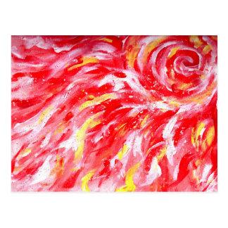 Cartão quente flamejante vermelho de Sun
