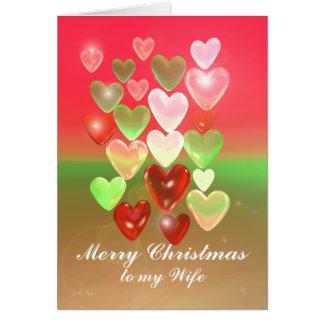 Cartão Queridos do Natal para a esposa