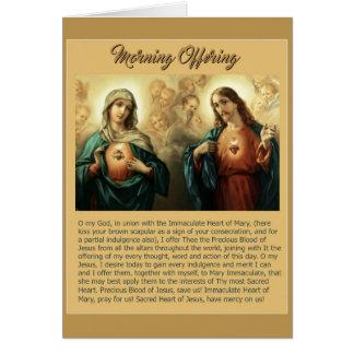 Cartão Querubins imaculados sagrados dos anjos de Mary do