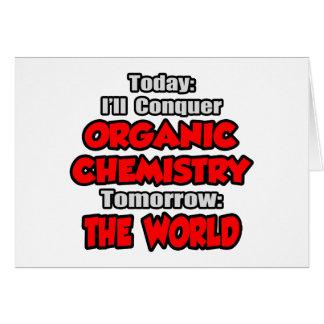 Cartão Química hoje orgânica… amanhã