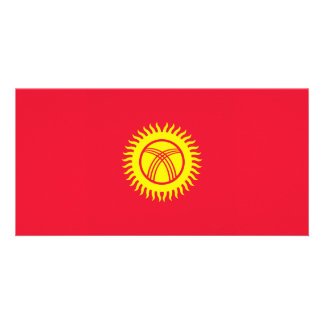 Cartão Quirguistão embandeira
