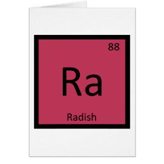 Cartão Ra - mesa periódica da química vegetal do rabanete