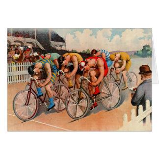Cartão Raça de bicicleta 1895