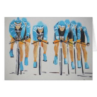 Cartão raça do ciclo da equipe
