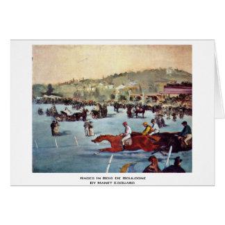 Cartão Raças no Bois de Boulogne por Manet Edouard