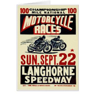 Cartão Raças retros da motocicleta de Langhorn do kitsch