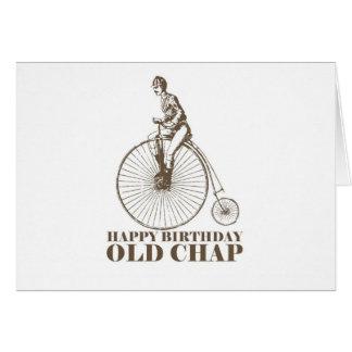 Cartão Rachadura velha do feliz aniversario