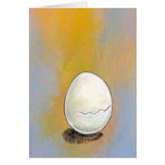 Cartão Rachamento - a arte potencial do ovo bonito