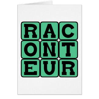 Cartão Raconteur, contador de histórias