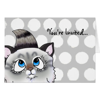 Cartão Ragdoll Cutie enfrenta o gatinho
