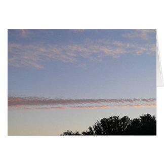 Cartão Raia da nuvem