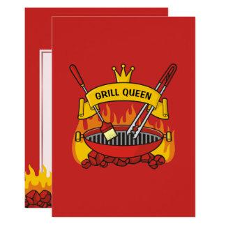 Cartão Rainha da grade
