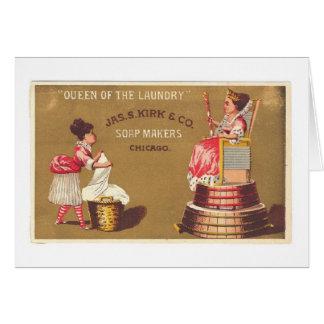 Cartão Rainha da lavanderia