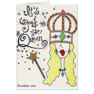 """Cartão """"Rainha"""" de minha arte original do """"party girl"""""""