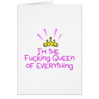 Cartão Rainha de tudo