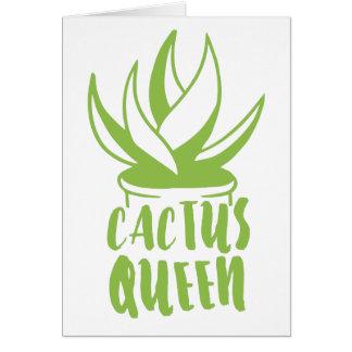 Cartão rainha do cacto