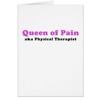 Cartão Rainha do fisioterapeuta da dor aka