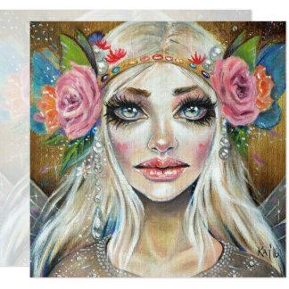 Cartão Rainha do Titania da arte do original dos países