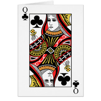 Cartão Rainha dos clubes