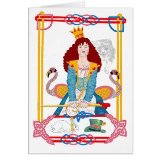 Cartão Rainha vermelha