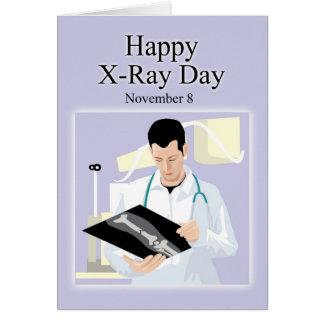 Cartão Raio X dia o 8 de novembro feliz