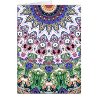 Cartão Raios coloridos de Sun
