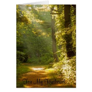 Cartão Raios de luz, para meu marido…