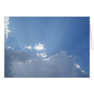 Cartão Raios de sol brilhantes