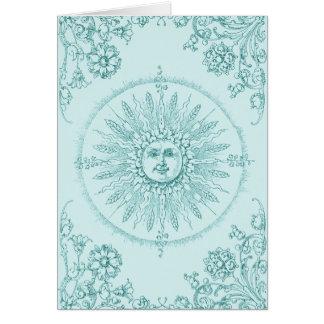 Cartão Raios de sol na borda da água