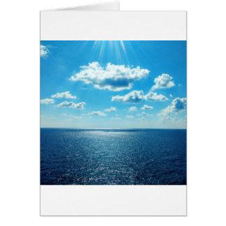 Cartão Raios sobre o mar