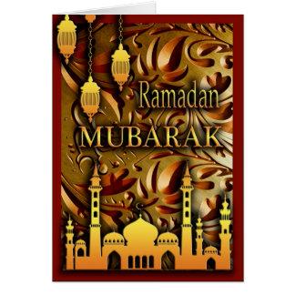 Cartão Ramadan Mubarak