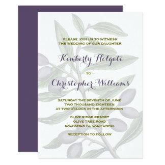 Cartão Ramo de oliveira que Wedding | 2