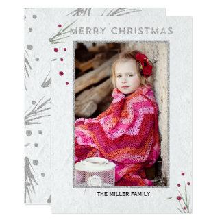 Cartão Ramo do pinho do Feliz Natal